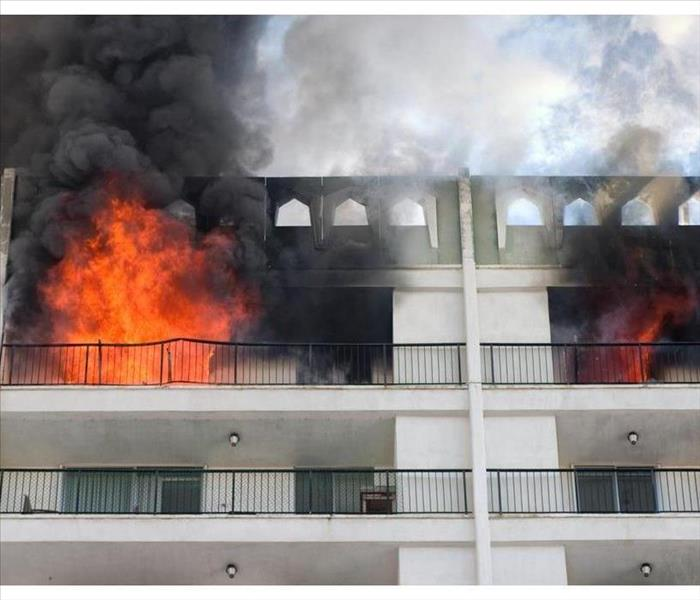 Apartment on fire
